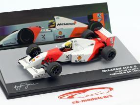 Ayrton Senna McLaren MP4/8 #8 vencedor Austrália GP fórmula 1 1993 1:43 Altaya