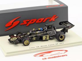 Ronnie Peterson Lotus 72E #2 gagnant français GP formule 1 1973 1:43 Spark