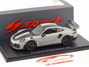 Porsche 911 (991 II) GT2 RS Weissach pakke Opførselsår 2018 kridt grå 1:43 Spark
