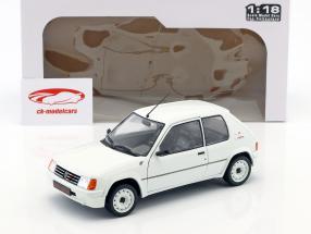 Peugeot 205 Rallye MK1 Opførselsår 1988 hvid 1:18 Solido