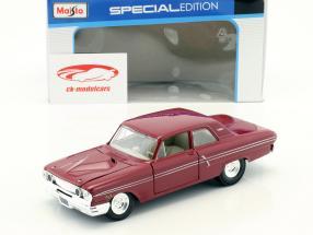 Ford Fairlane Thunderbolt année de construction 1964 sombre rouge 1:24 Maisto
