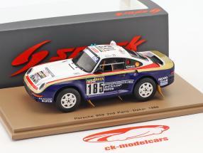 Porsche 959 #185 2º Rallye Paris - Dakar 1986 Ickx, Brasseur 1:43 Spark