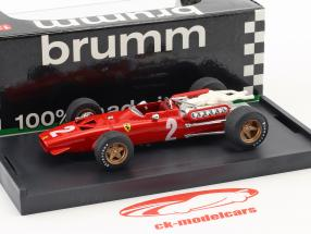 Chris Amon Ferrari 312 F1 #2 italiensk GP formel 1 1967 1:43 Brumm