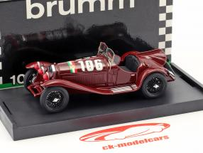 Alfa Romeo 8C 2300 #106 Winner Mille Miglia 1932 Borzacchini, Bignami 1:43 Brumm