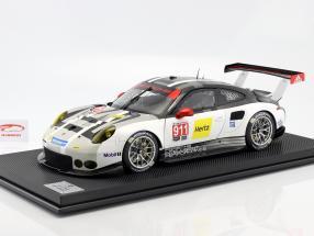 Porsche 911 (991) RSR #911 ano de construção 2016 cinza / branco / preto 1:8 Amalgam