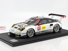 Porsche 911 (991) RSR #911 year 2016 gray / white / black 1:8 Amalgam