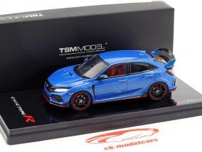 Honda Civic type R RHD année de construction 2017 aegean bleu métallique 1:43 TrueScale