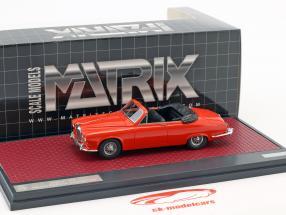 Jaguar 420 Harold Radford Convertible year 1967 red 1:43 Matrix