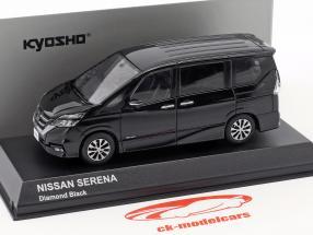 Nissan Serena C27 diamant sort 1:43 Kyosho