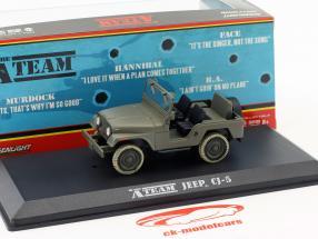 Jeep CJ-5 série de TV o A-Team (1983-87) army verde 1:43 Greenlight