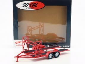 Tandem Car trailer So-Cal Speed Shop red / white / black 1:18 GMP