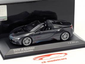 BMW I8 Roadster (I15) year 2018 grey metallic 1:43 Minichamps