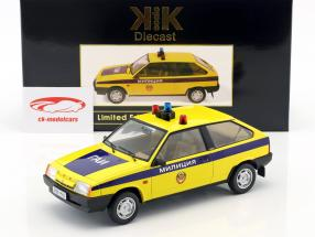 Lada Samara police Russia year 1984 yellow / blue 1:18 KK-Scale