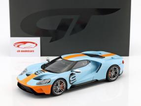 Ford GT Heritage Edition 2019 Gulf #9 bleu / orange 1:18 GT-Spirit