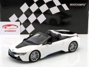 BMW I8 Roadster (I15) Baujahr 2018 weiß metallic 1:18 Minichamps