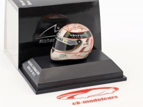 M. Schumacher Mercedes F1 W03 300th GP Spa Formel 1 2012 Helm 1:8 Schuberth