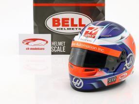 Romain Grosjean Haas VF-18 #8 formula 1 2018 helmet 1:2 Bell