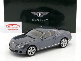 Bentley Continental GT Thunder año 2011 metálica de color gris azulado 1:18 Minichamps