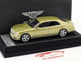 Bentley Mulsanne Speed Genebra Motor Show 2016 julepo ouro 1:43 LookSmart