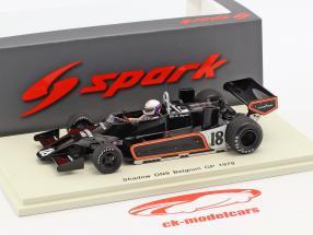 Elio de Angelis Shadow DN9 #18 Bélgica GP fórmula 1 1979 1:43 Spark