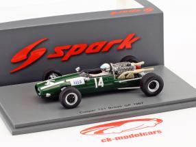 Alan Rees Cooper T81 #14 Grã-Bretanha GP fórmula 1 1967 1:43 Spark