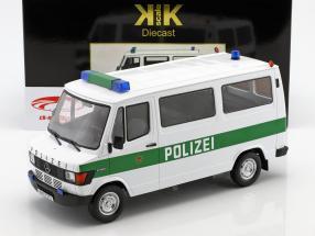 Mercedes-Benz 208 D Bus Polizei Baujahr 1988 weiß / grün 1:18 KK-Scale