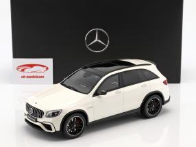Mercedes-Benz AMG GLC 63 SUV designo diamante blanco brillante 1:18 GT-SPIRIT