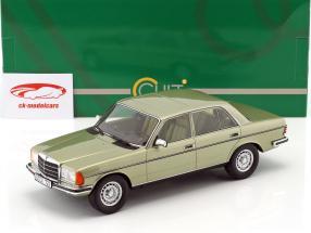 Mercedes-Benz 280 E (W123) Opførselsår 1976 sølv grøn 1:18 Cult Scale