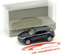 Porsche Macan Turbo year 2013 blue metallic 1:87 Minichamps