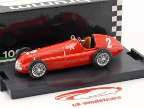 Giuseppe Farina Alfa Romeo 158 #2 gagnant Gran Bretagna e Europa GP formule 1 1950 1:43 Brumm