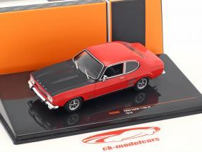 Ford Capri 1700 GT année de construction 1970 rouge / noir 1:43 Ixo