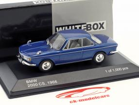 BMW 2000 CS Bouwjaar 1966 blue metallic 1:43 WhiteBox