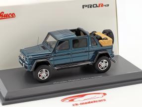 Mercedes-Benz Maybach G650 Landaulet azul metálico 1:43 Schuco