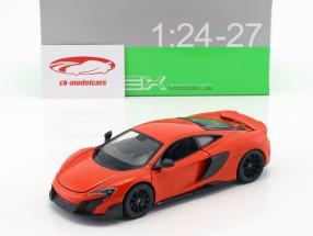 McLaren 675LT Bouwjaar 2017 oranje-rood 1:24 Welly