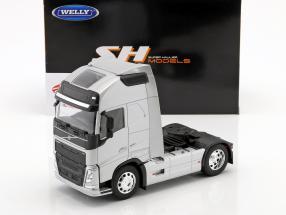 Volvo FH (4x2) trekker Bouwjaar 2016 zilver metalen 1:32 Welly