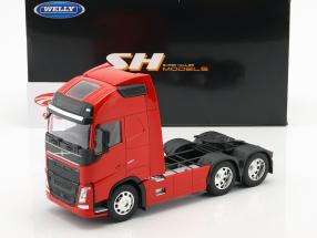Volvo FH (6x4) Traktor Opførselsår 2016 rød 1:32 Welly