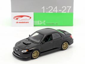 Subaru Impreza WRX STi year 2010 black 1:24 Welly