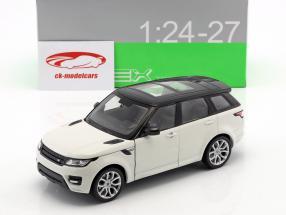 Range Rover Sport Opførselsår 2015 hvid / sort 1:24 Welly