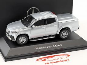 Mercedes-Benz X-Class (BR470) year 2017 diamond silver 1:43 Spark