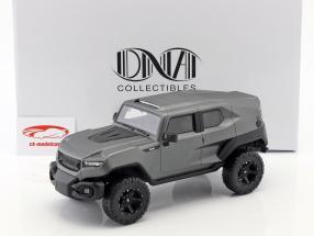 Rezvani Tank año de construcción 2018 estera gris plata 1:18 DNA Collectibles