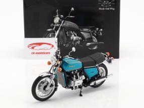 Honda Goldwing GL 1000 K0 année de construction 1975 turquoise métallique 1:12 Minichamps