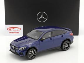Mercedes-Benz AMG GLC 43 coupe strålende blå 1:18 GT-Spirit
