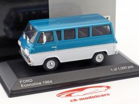 Ford Econoline anno di costruzione 1964 turchese metallico / bianco 1:43 WhiteBox
