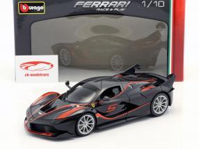Ferrari FXX-K #5 schwarz / rot 1:18 Bburago