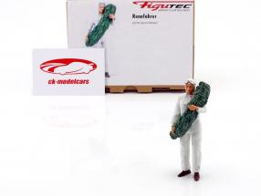 race car driver figure with laurel wreath 1:18 Figutec Figures