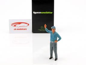 Alberto Ascari chauffør figur 1:18 FigurenManufaktur