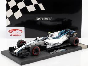 Lance Stroll Williams FW40 #18 Abu Dhabi GP formel 1 2017 1:18 Minichamps