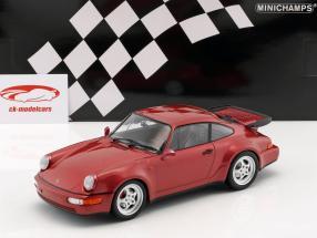 Porsche 911 (964) Turbo ano de construção 1990 vermelho metálico 1:18 Minichamps