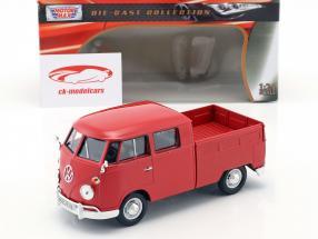Volkswagen VW Type 2 doble cabina rojo 1:24 MotorMax