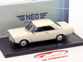 Ford Taunus P7b 17M coupe Bouwjaar 1968 wit 1:43 Neo